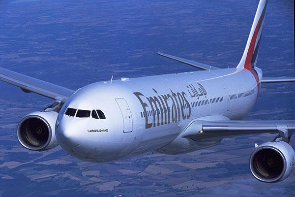 emirates passenger flights earlier