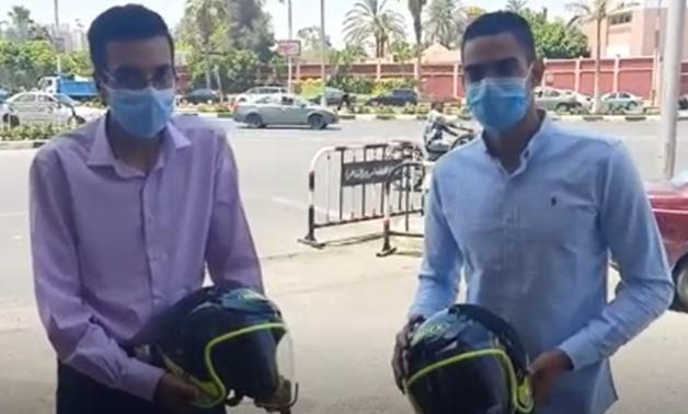 egypt helmets motorcyclists bike presence
