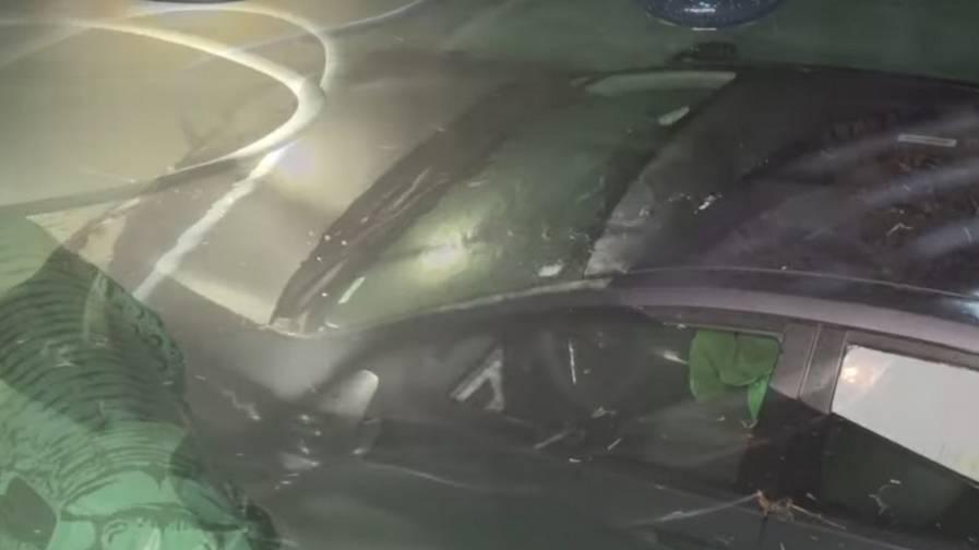 cops driver swimming pool video